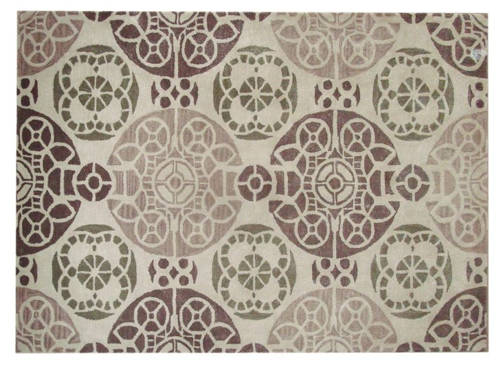 Bleeker Rug, Ivory/Brown