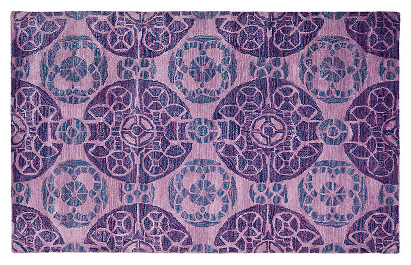Bleeker Rug - Purple - 2'3