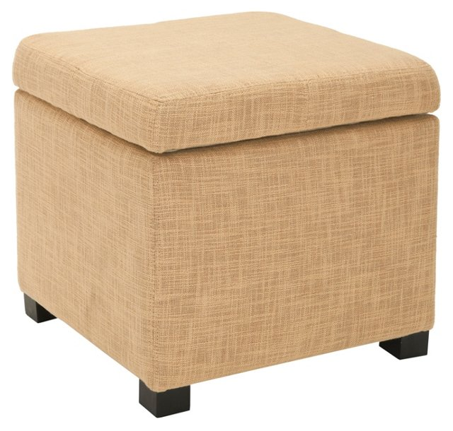 Evelyn Square Ottoman, Golden Barley