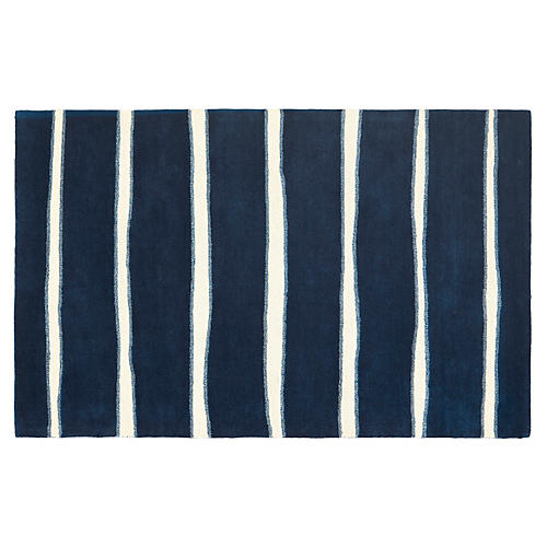 Martha Stewart Chalk Rug, Navy