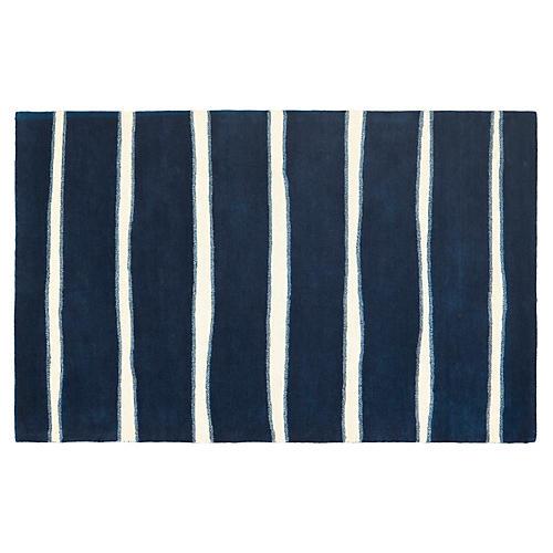 Martha Stewart Chalk Rug, Navy