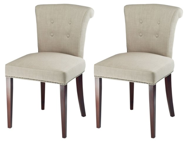Ava Side Chairs, Pair