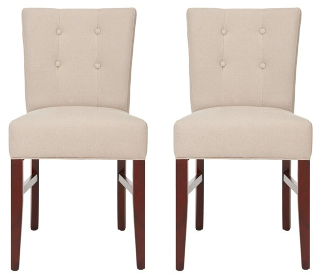 Tulane Side Chairs, Pair