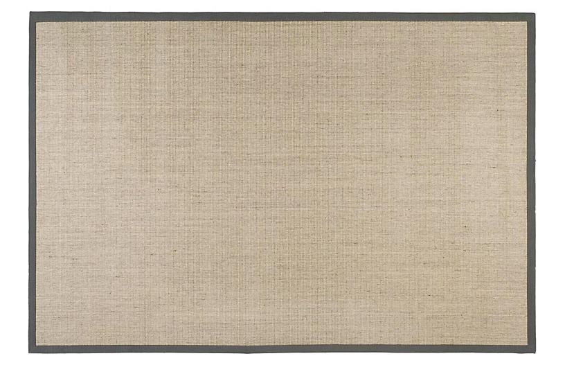 2'x8' Lily Sisal Rug, Marble/Gray