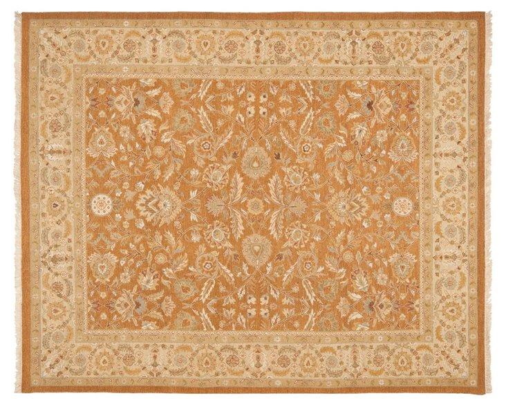 Alice Flat-Weave Rug, Copper/Beige