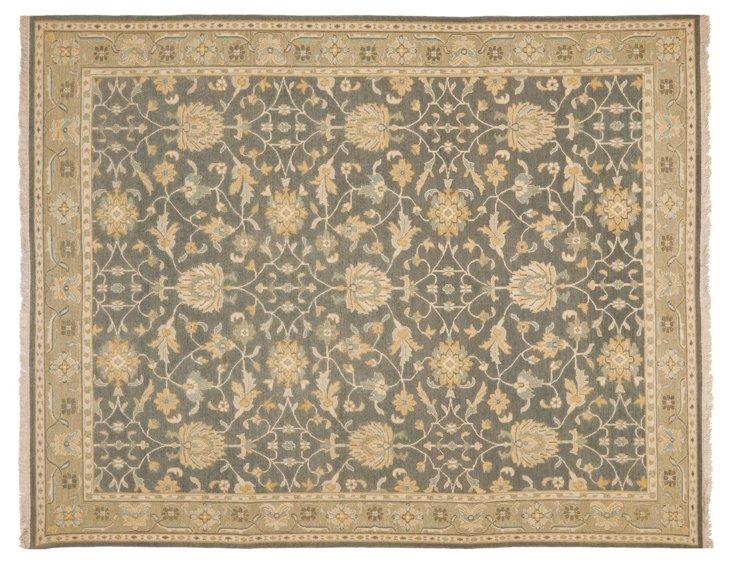 9'x12' Reena Soumak Rug, Charcoal/Wheat