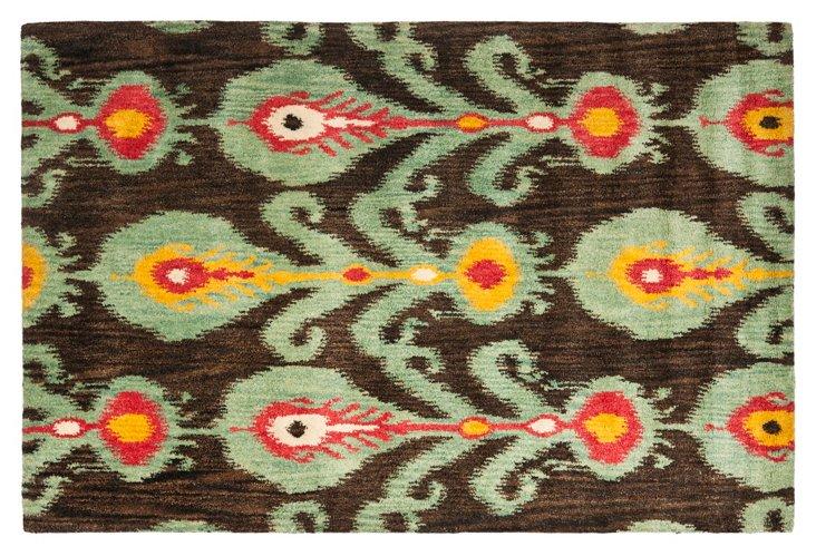 8'x10' Calder Rug, Charcoal/Jade Green