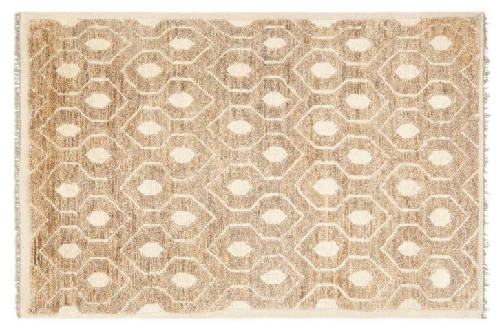 5'x8' Hart Jute-Blend Rug, Ivory/Multi