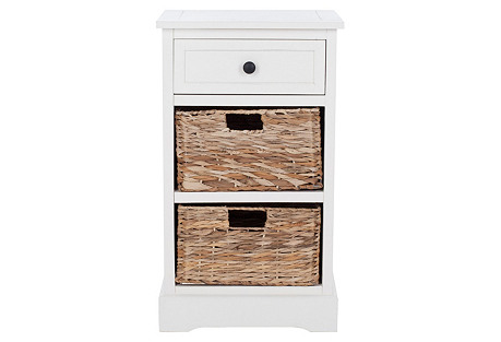 Kendall Side Storage Table, White*