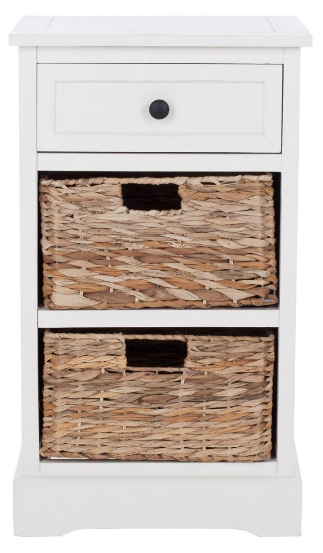 Kendall Side Storage Table, White