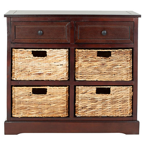 Hayden Storage Unit, Dark Cherry