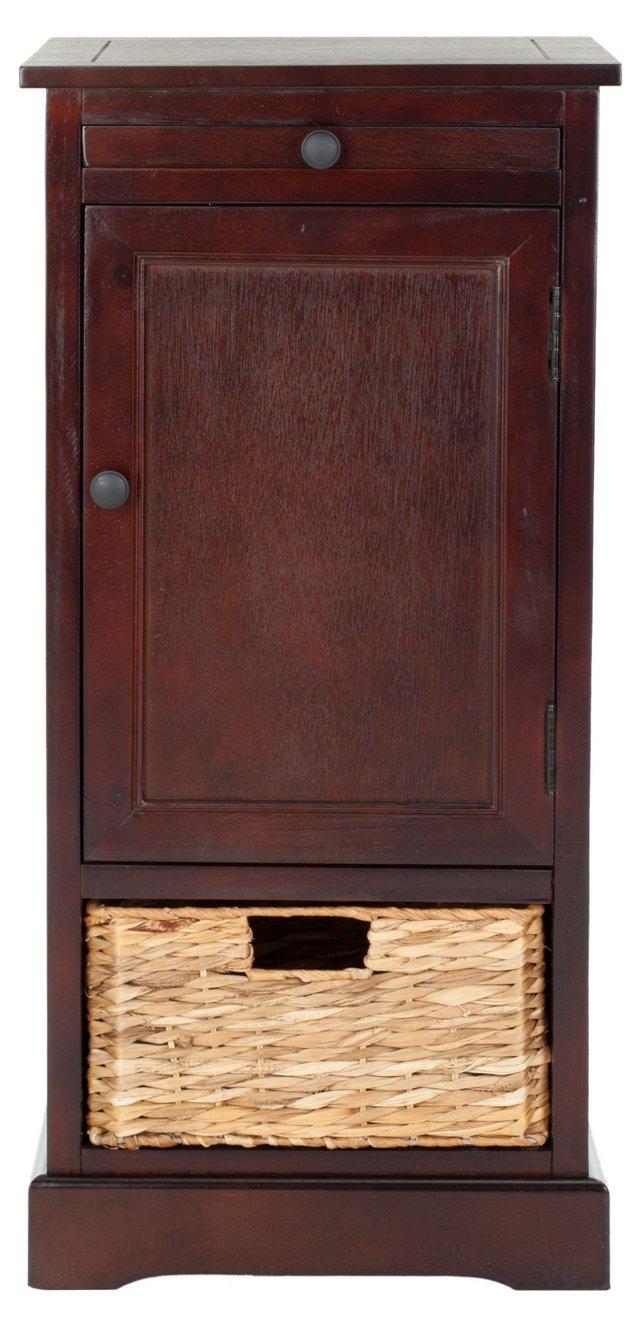 Veronica Storage Cabinet, Cherry Finish
