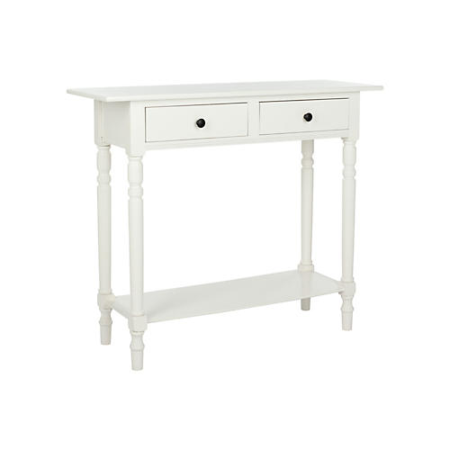 Holden 2-Drawer Console, White