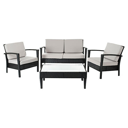 Outdoor Caldwell 4-Pc Set, Black/Gray