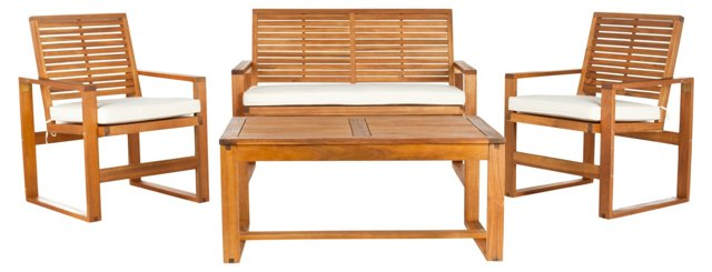 Outdoor Mansfield 4-Pc Set, Teak
