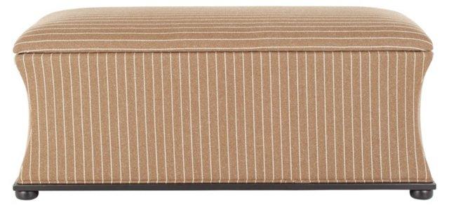 Abigail Storage Bench, Cocoa/Cream
