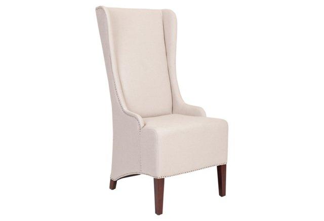 Elijah Slipcover Chair, Chalk