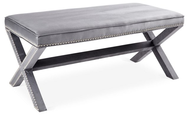 Emerson Bench, Slate Blue