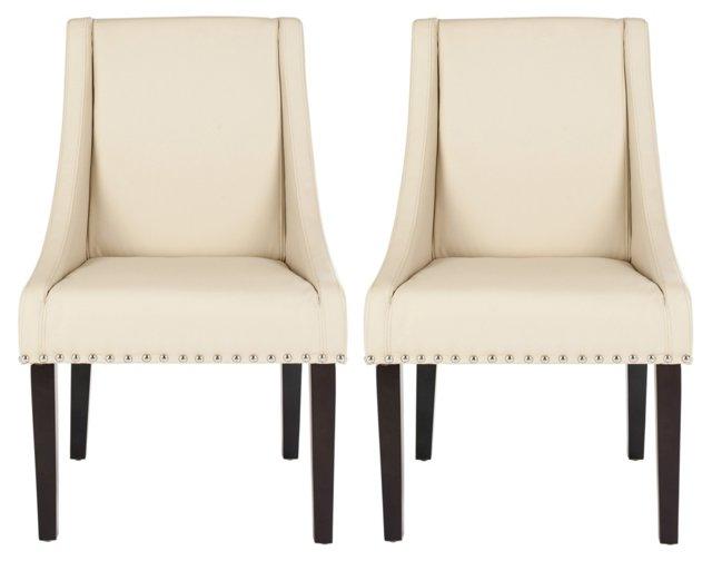 Cream Veronica Dining Chairs, Pair