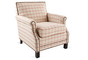 Taylor Club Chair, Beige
