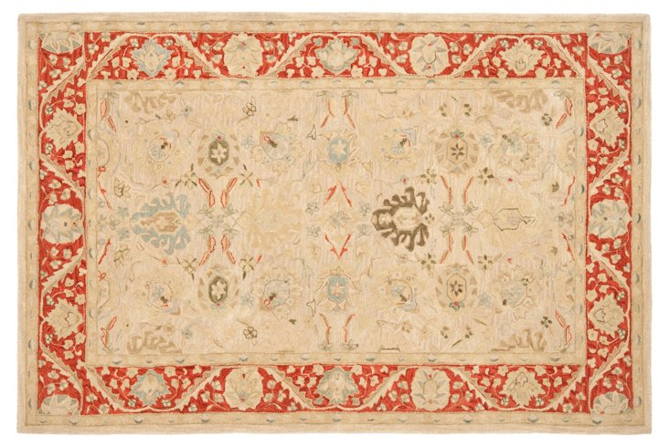 Tyra Rug, Beige/Red