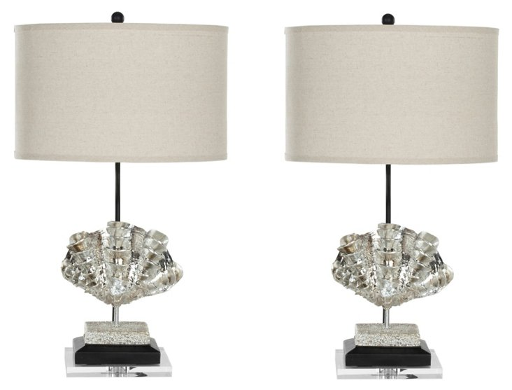 Tyler Table Lamp Set, Silver