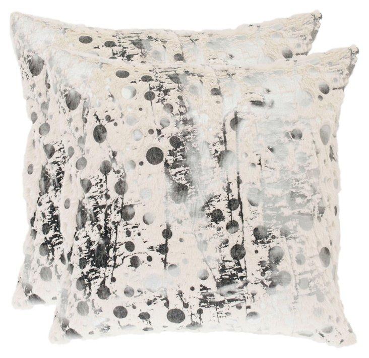 S/2 Lorens 20x20 Pillows, White