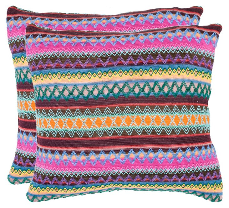 S/2 Sterling Pillows, Multi