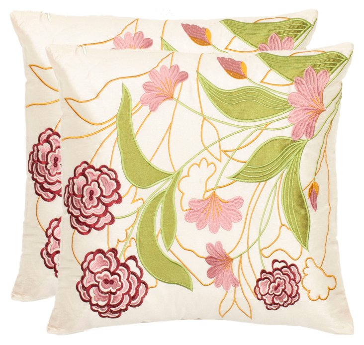 S/2 Amity 18x18 Pillows, Pink