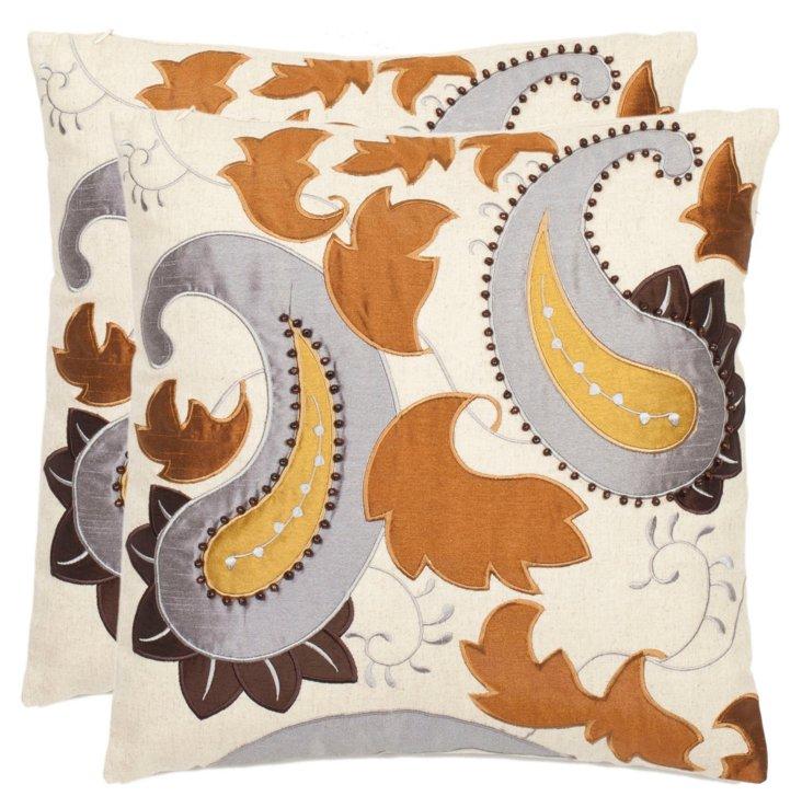 S/2 Horus 18x18 Pillows, Earth