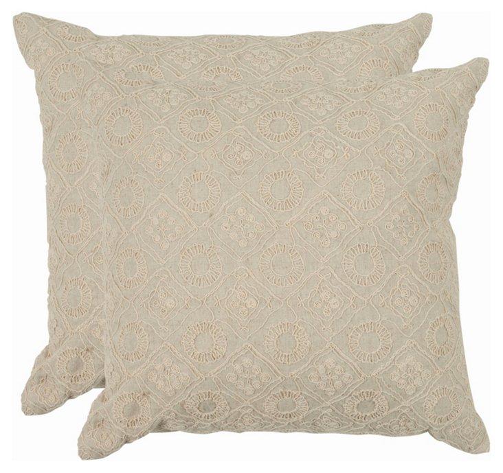 Cream Hanna Pillow, Pair