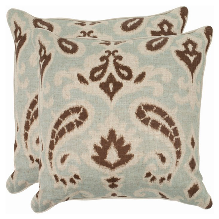 S/2 Martina Pillows, Gray