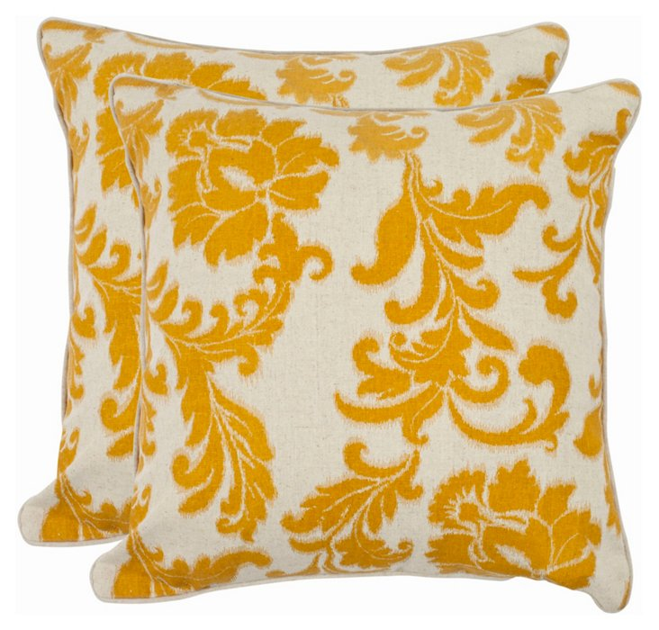 S/2 Helena Pillows, Apricot