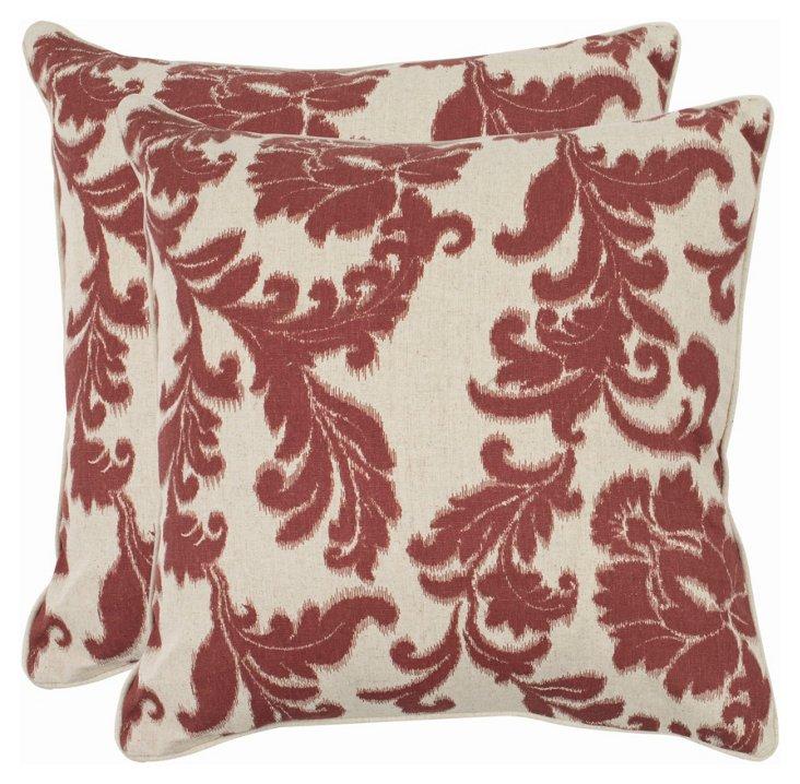 S/2 Helena Pillows, Bordeaux