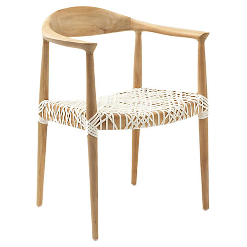 Francesca Chair, Natural/White