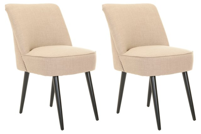 Sand Fletcher Dining Chairs, Pair