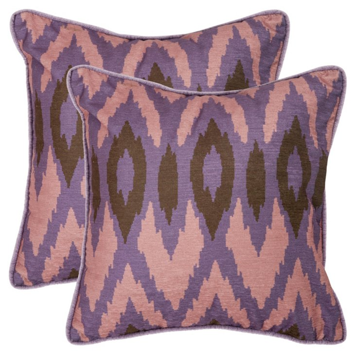 S/2 Easton Pillows, Lavender