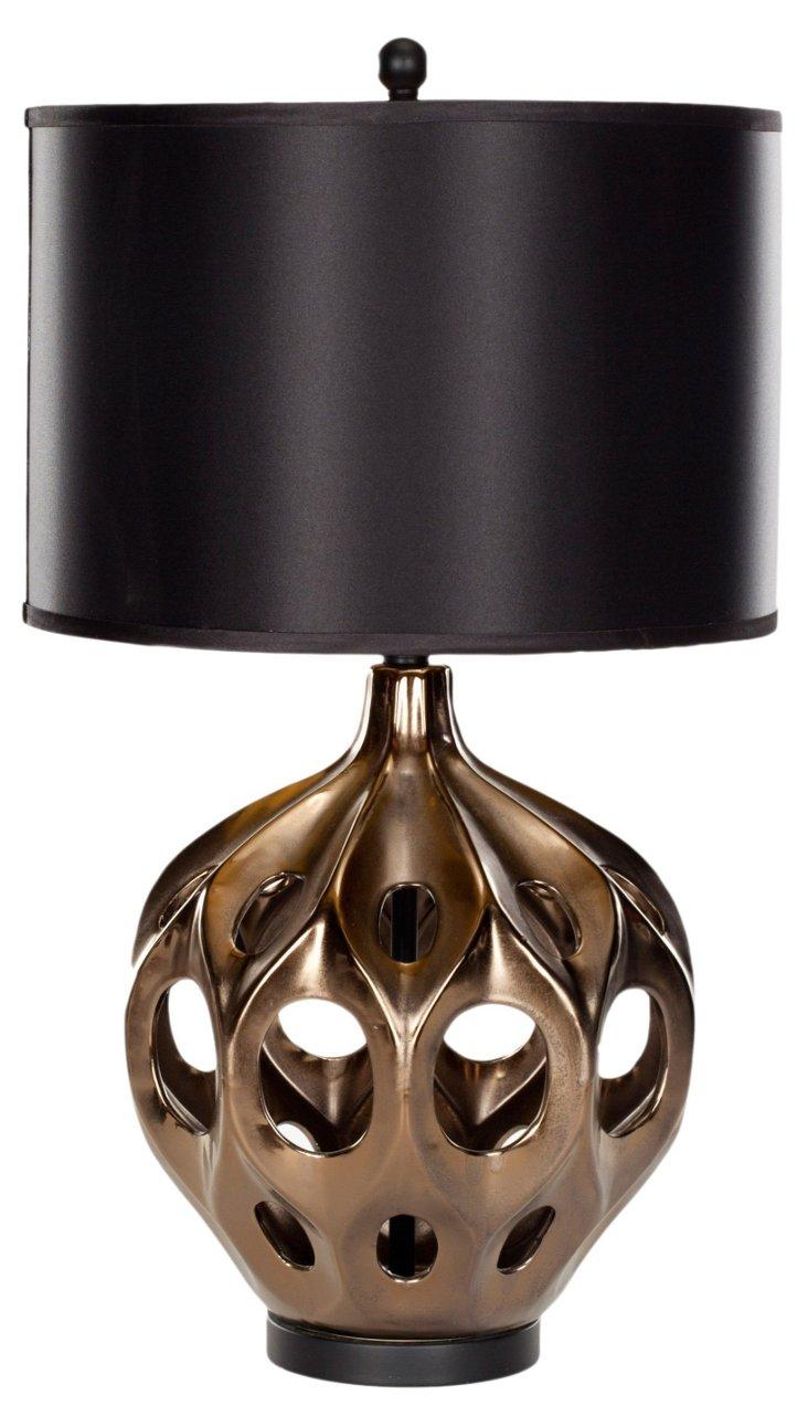 Regina Table Lamp, Copper