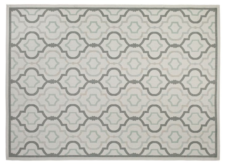 Basin Outdoor Rug, Gray/Anthracite
