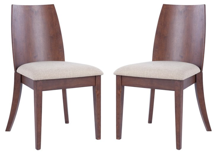 Jed Side Chairs, Pair