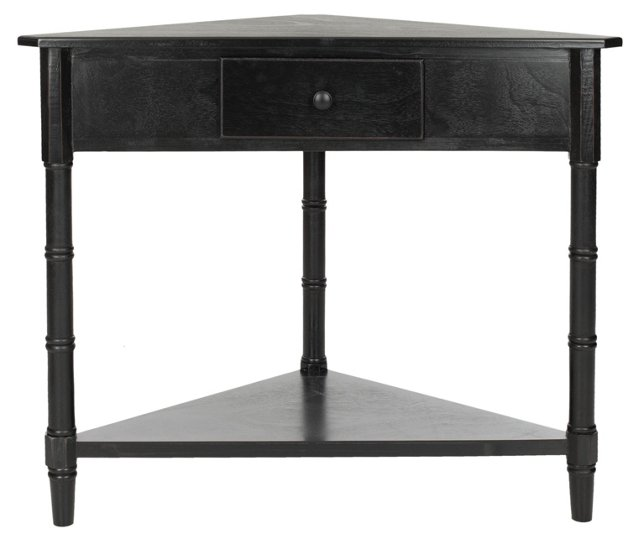 Geneva Corner Table, Black