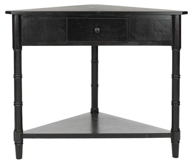 Geneva Corner Table, Black