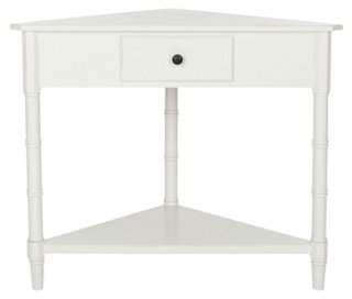 Geneva Corner Table White Side Tables Living Room Furniture