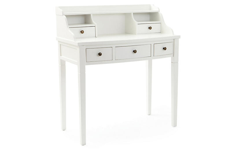 Lillian Writing Desk, White