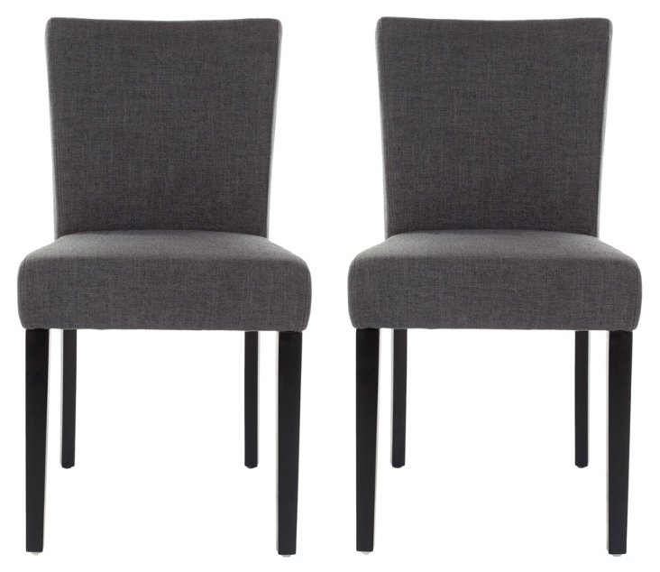Charcoal Benton Dining Chairs, Pair