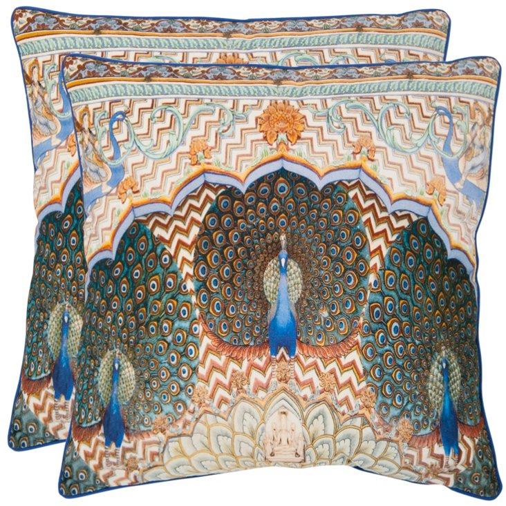 Set of 2 Ordu Pillows, Multi