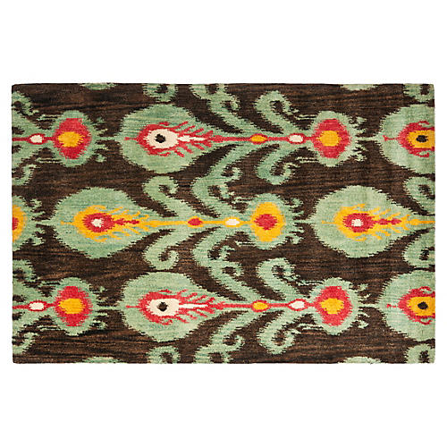 Calder Rug, Charcoal/Jade