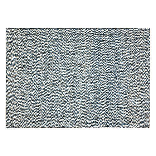 Apex Sisal Rug, Blue/Ivory