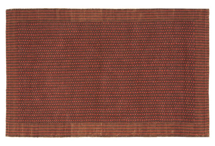 Winston Sisal Rug, Brown/Rust