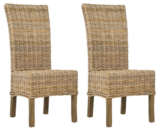 Oliver Dining Chairs, Pair